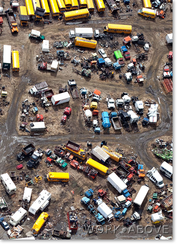 Trucks & Busses in junkyard