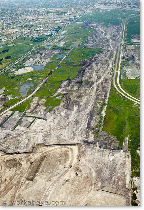Construction of new runway at Calgary airport